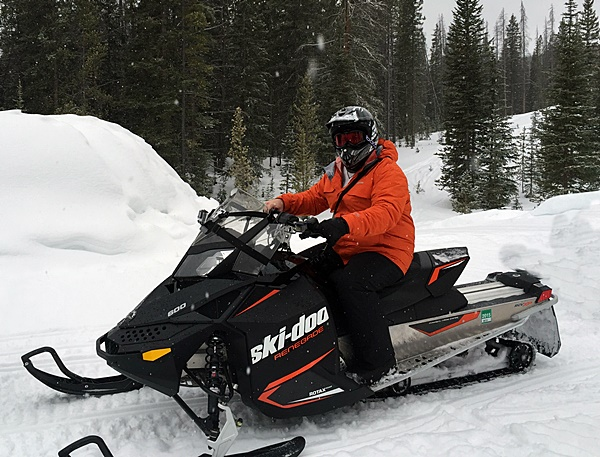 Snowmobile in Awesome Colorado