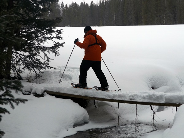 Have you tried snowshoeing? This is an awesome experience and workout in Colorado