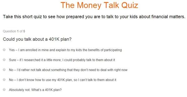 Discover Money Quiz