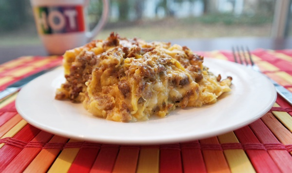 Breakfast For Dinner Recipe: Sausage & Spaghetti Squash Casserole