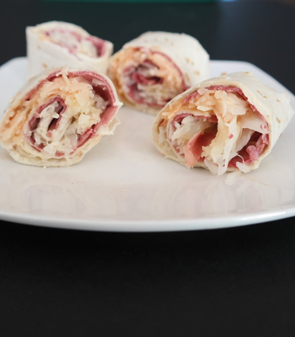 Easy Reuben Roll Ups
