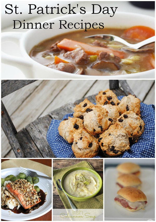 St. Patrick's Day Dinner Recipes - Can't wait to try these!