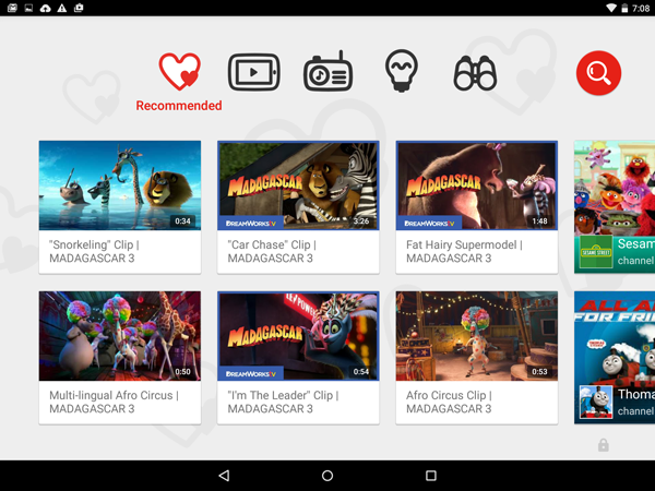 YouTube Kids App Recommended