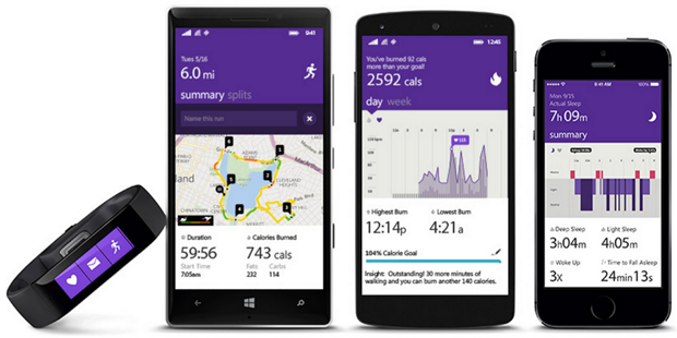 Microsoft Band works with Windows, iOS & Android too