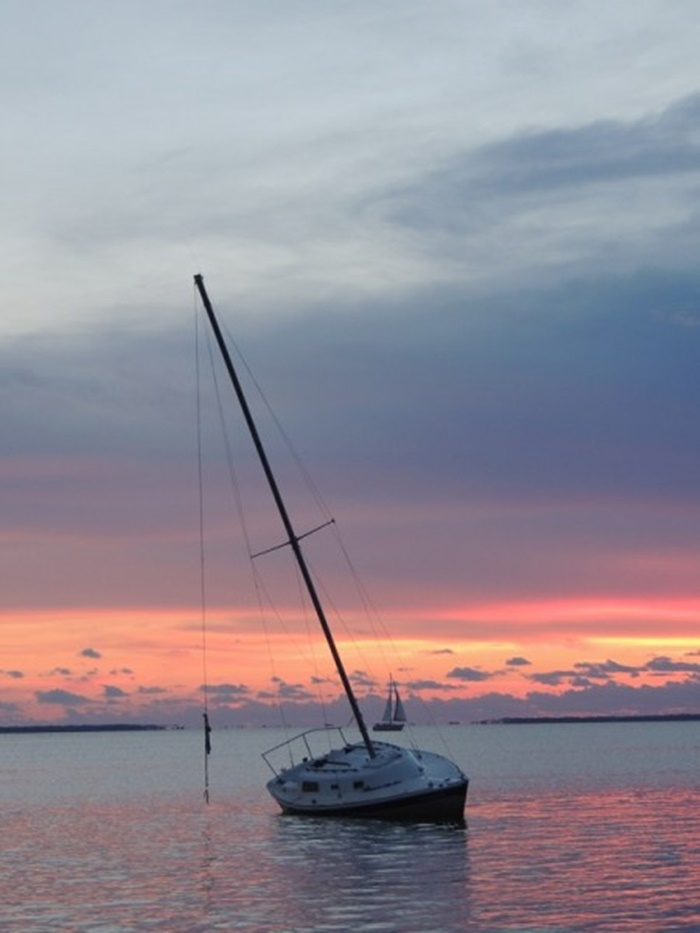 Gulf County Sunset Sailboat