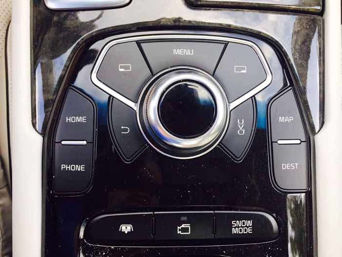 Kia K900 Display Controls