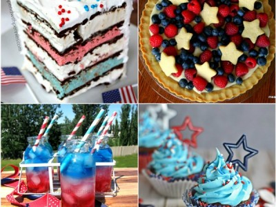 Red White & Blue Memorial Day Recipes Featured