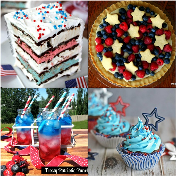 Red White & Blue Memorial Day Recipes