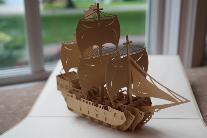 Cards2Life Wooden Ship Open
