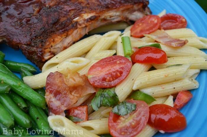 Bacon & Basil Pasta Salad