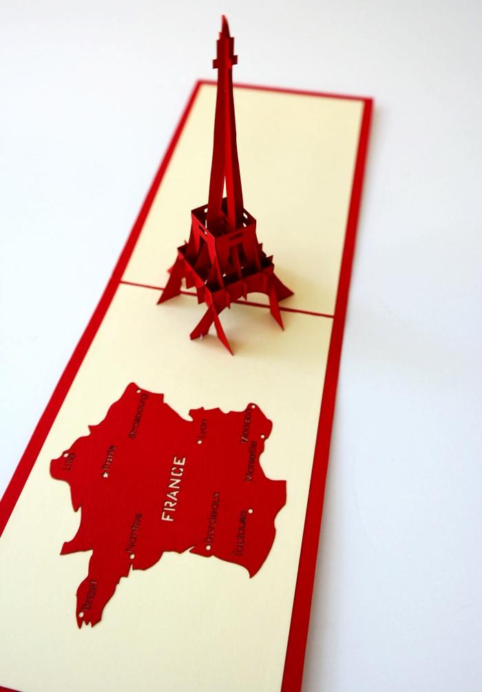 Cards2Life Eiffel Tower Pop Up Card