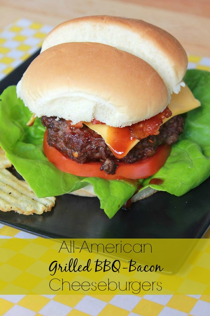 Grilled Barbecue Bacon Cheeseburgers