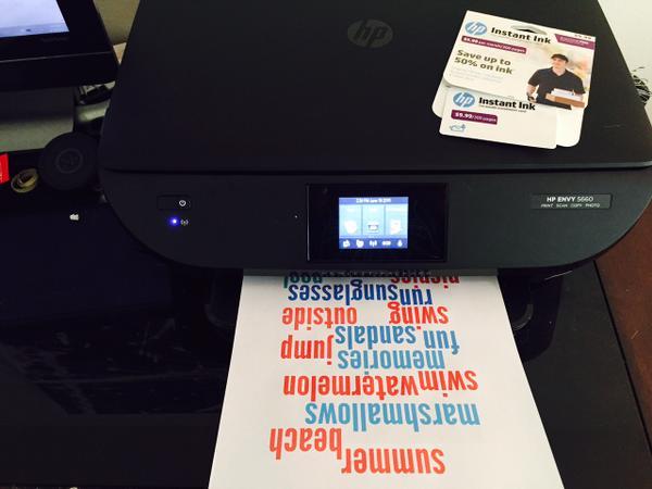 HP Instant Ink Summer Printable