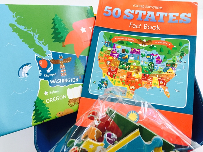 Smithsonian 50 States Fact Book and Puzzle