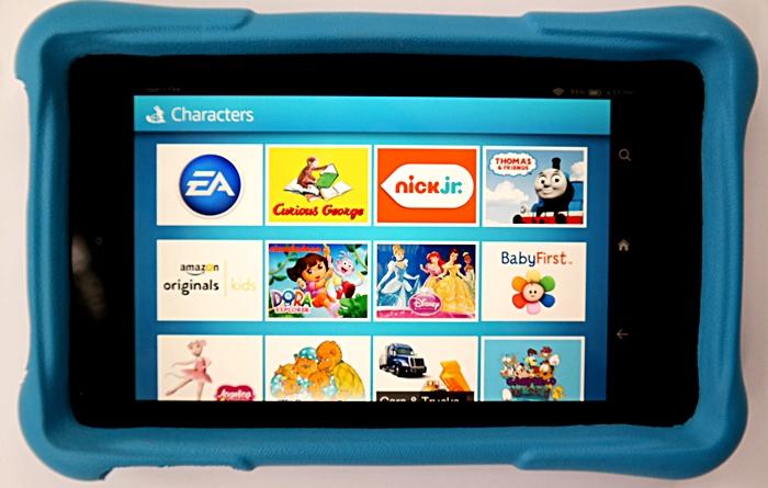 Amazon Fire HD Kids Character Search