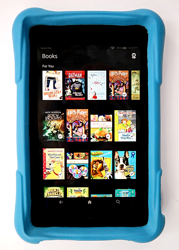 Amazon Fire HD Kids Edition Books Library