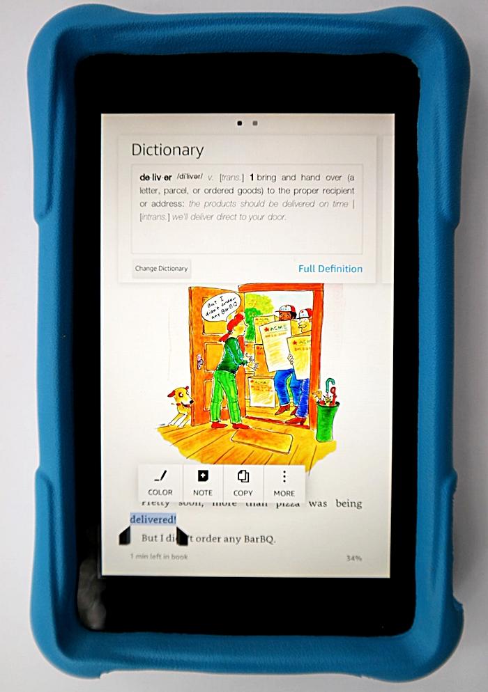 Amazon Fire HD Kids Edition Dictionary
