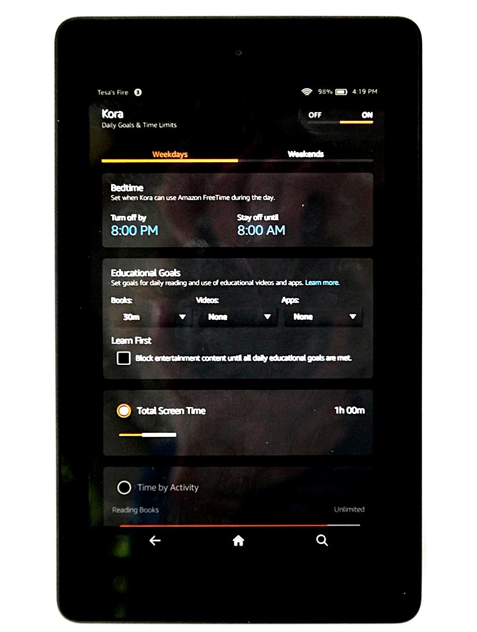 Amazon Fire HD Kids Fire FreeTime