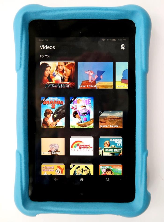 Amazon Fire HD Kids Edition Videos
