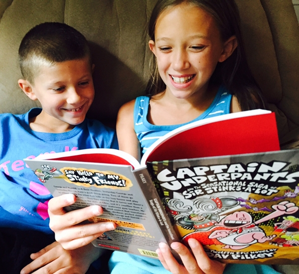 Reading Gives You Super Powers With New Captain Underpants Book