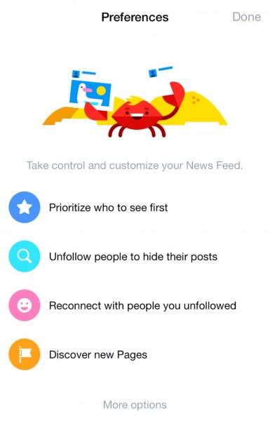 Facebook Prioritize