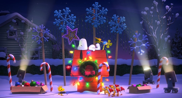peanuts movie snoopy dog house christmas