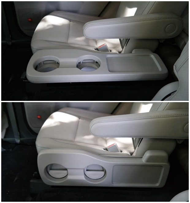 Toyota Highlander Folding Table in Back seat