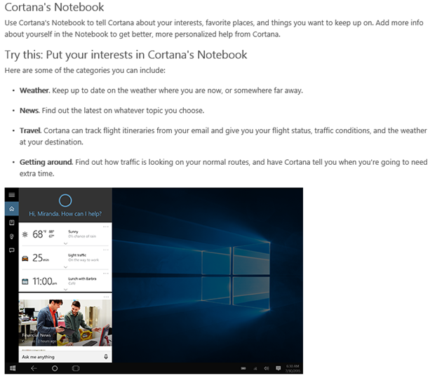 Help cortana get to know you you can make cortana yours by