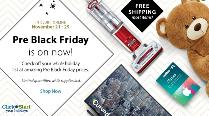 Sam's Club Pre-Black Friday Event