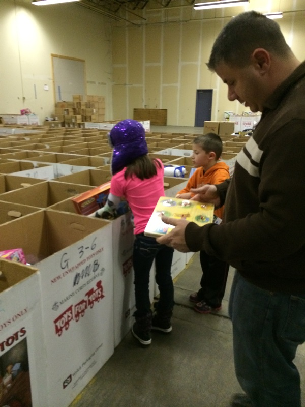 Toys For Tots Sorting