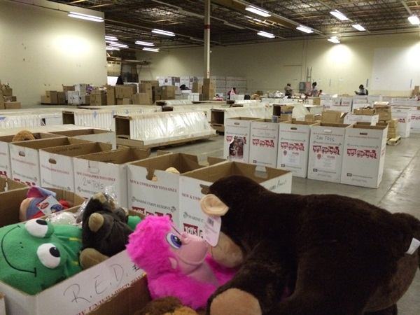 Toys For Tots Warehouse Boxes