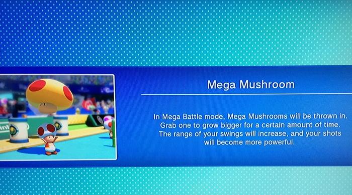 Mario Tennis Ultra Smash Mega Mushroom