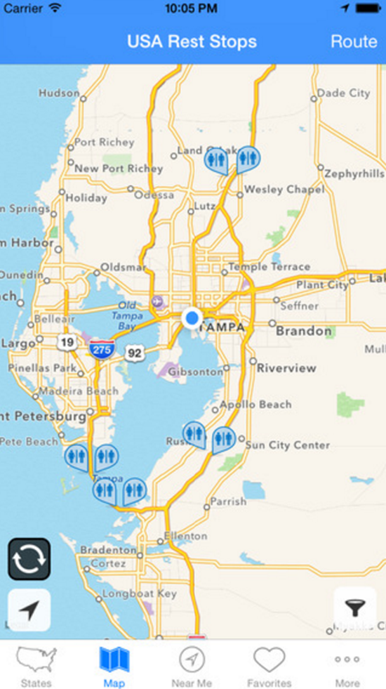 Top Travel Apps USA Rest Stops