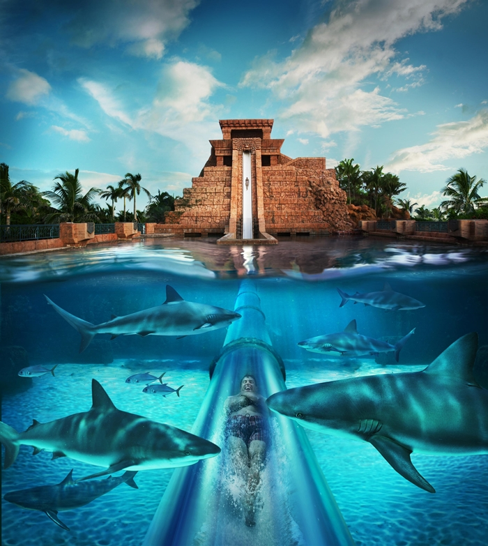 Atlantis Mayan Temple Water Slide