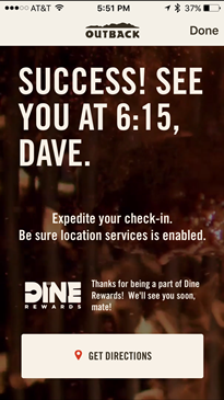 Outback App Schedule Ahead