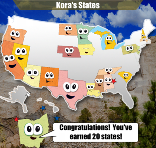 Fun Geography App For Kids – Stack The States
