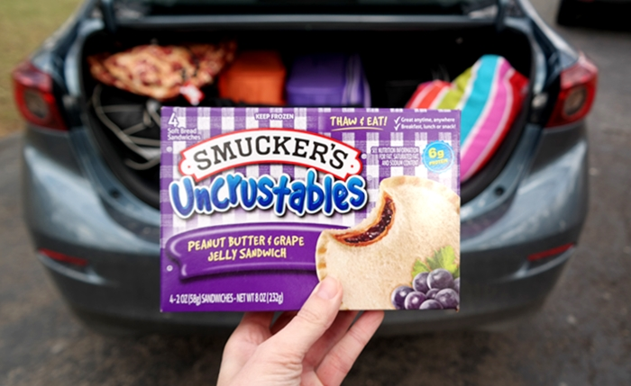 Uncrustables Road Trip Snack Idea