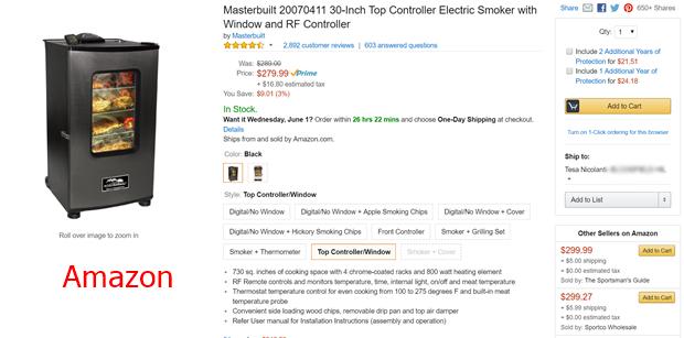 Amazon Smoker Comparison
