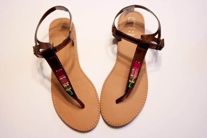 Crazy 8 Gem Metallic Sandals
