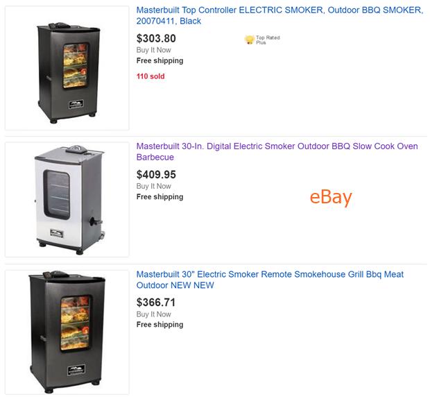 eBay Smoker Comparison