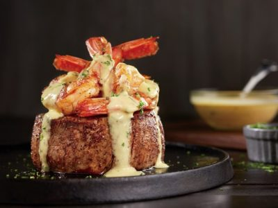 Big Australian Menu Outback Bernaise Topped Filet