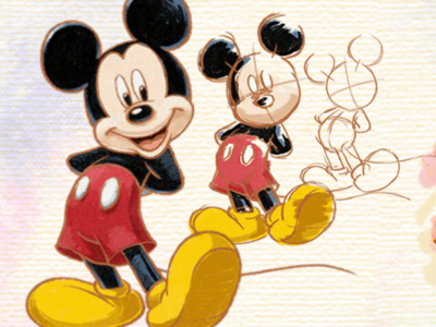 How to draw Disney Characters Mickey