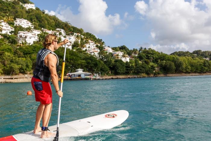 Paddleboarding Windjammer Landing in St. Lucia