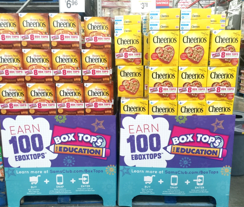 Box Tops At Sam's Club Honey Nut Cheerios