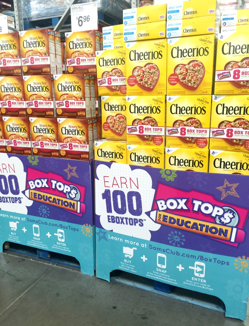 Box Tops At Sam's Club Cheerios