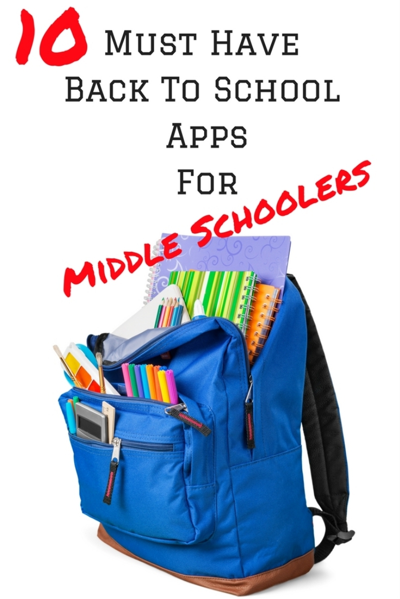 Must Have Back To School Apps For Middle Schoolers