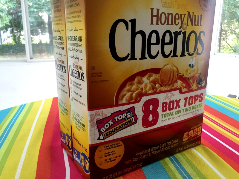 Box Tops Honey Nut Cheerios 2
