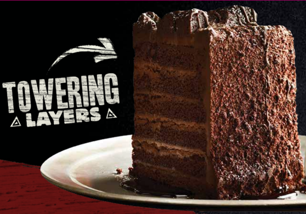 Outback Raise the Steaks - Towering Chocolate Cake