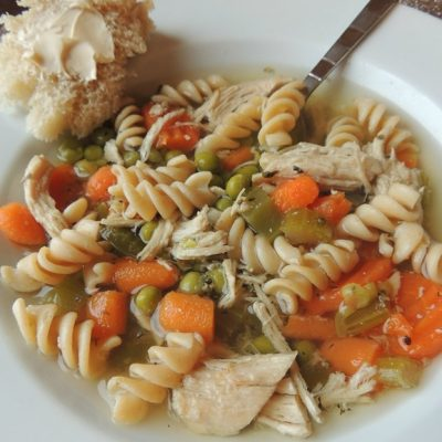 Simple Slow Cooker Chicken Noodle Soup