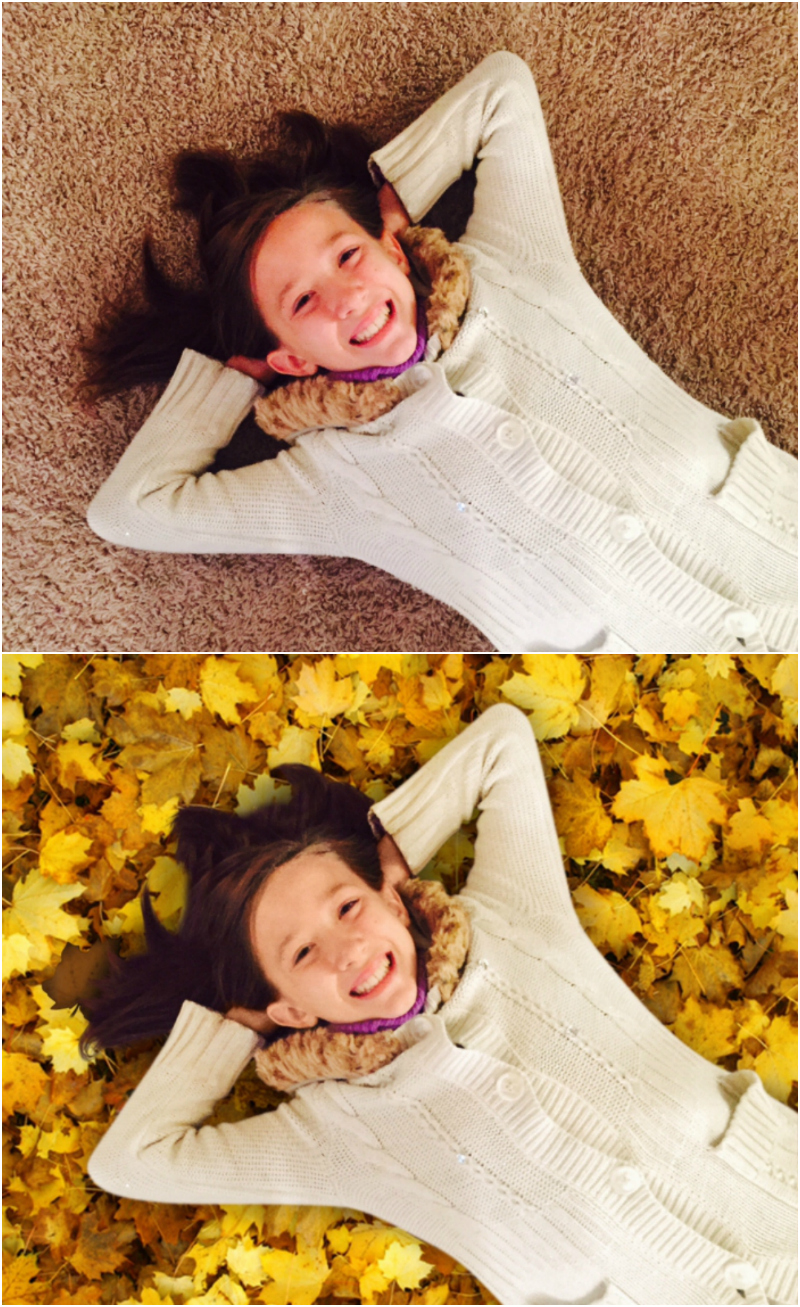 Krome Studio App Fall Leaves Before & After